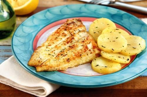 Pesca del día al tomillo y limón