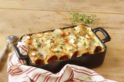 Cannelloni mit Spinat-Schafkäsefüllung