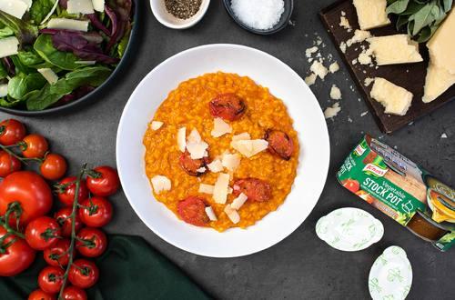 Slow Cooker Tomato Risotto