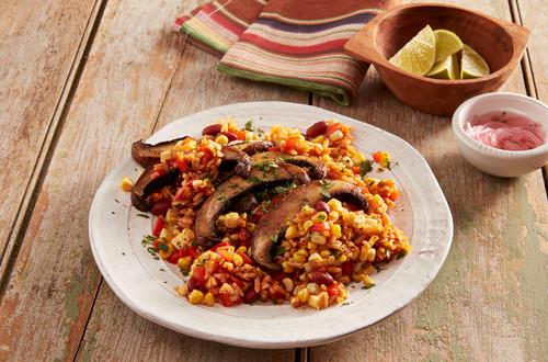 Sizzling Mexican Portobello Rice