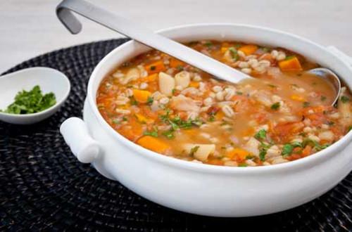 Roasted Tomato & Barley Soup