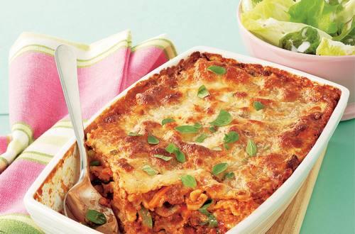 Knorr - Überbackene Mascherlnudeln mit Pilzen und Faschiertem