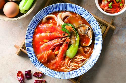 惜食料理-韓式玉米海鮮碼麵