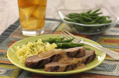 Grilled Meatloaf Stroganoff