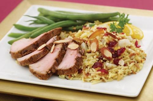 Roast Pork with Fennel & Cran-Orange Rice