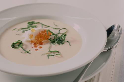Lachs-Kohlrabicreme-Suppe