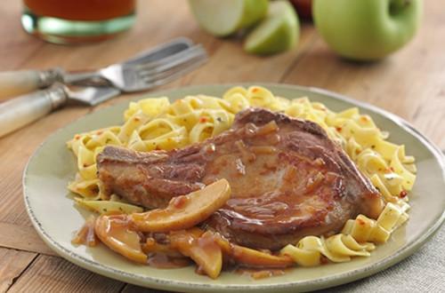Pork Chops with Apple-Onion Sauce