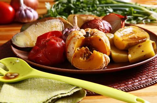 legumes assados a moda caipira