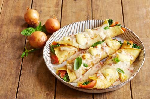 Knorr - Gratinierte Spinat-Lachs-Crespelle