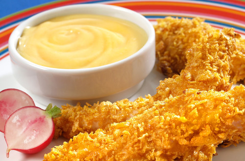 Doigts de poulet à la moutarde au miel