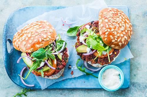 Groenteburger met quinoa en bonen