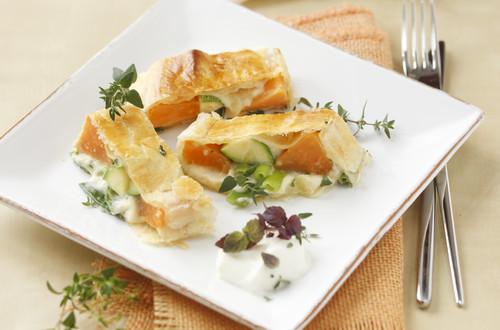 Süßkartoffel-Gemüsestrudel