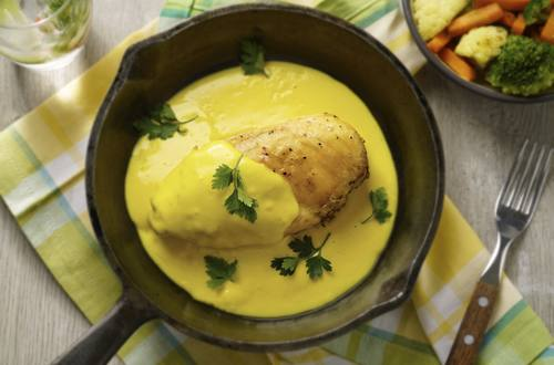 Pollo en Salsa Cúrcuma