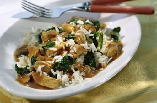 Knorr - Geflügel-Spinatpfanne mit Reis