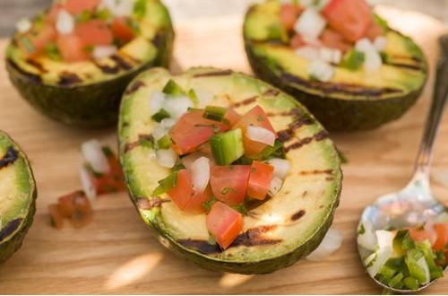 Grilled Avocados with Pico de Gallo