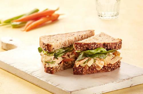 Lemony Chicken & Apple Salad Sandwiches
