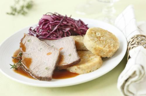 Knorr - Harlekinbraten mit Serviettenknödel