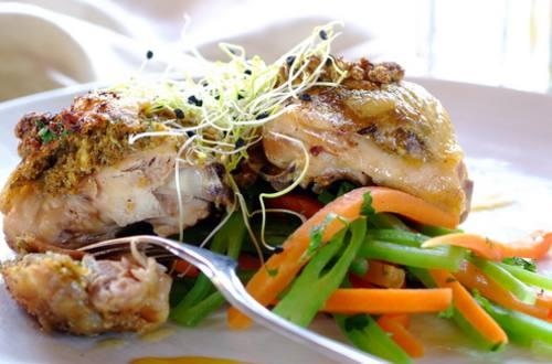 Курица запеченная под хрустящей панировкой