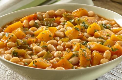 Caribbean White Beans & Squash