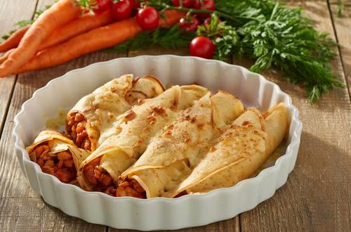 Knorr - Pfannkuchen mit Hähnchenbrust