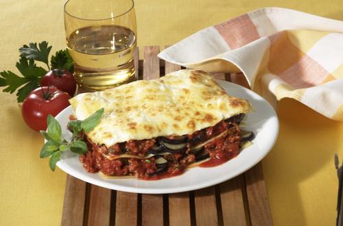 Auberginen-Hack-Lasagne