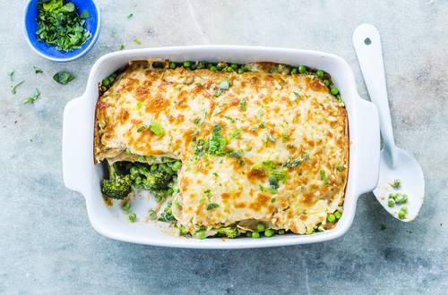 Grüne Pfannkuchen-Lasagne