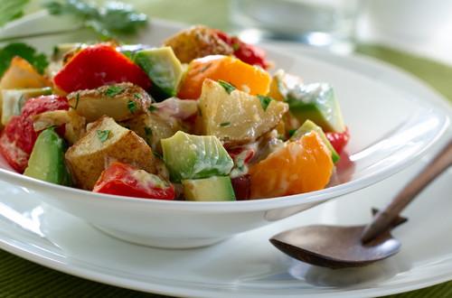 Roasted Potato & Avocado Salad