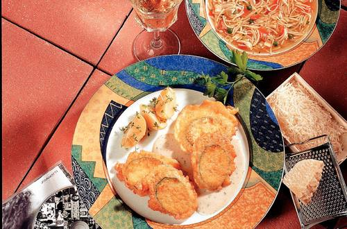 Knorr - Gebackene Zucchini mit Käsemantel