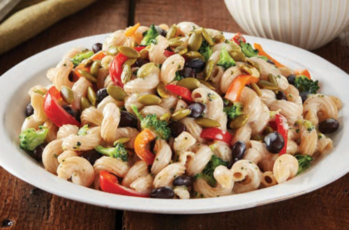 White Cheddar Pasta with Peppers & Beans