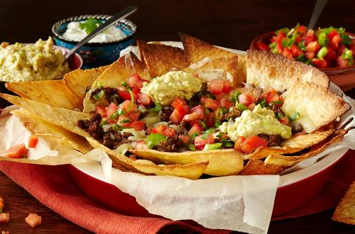 Spicy Beef Nachos