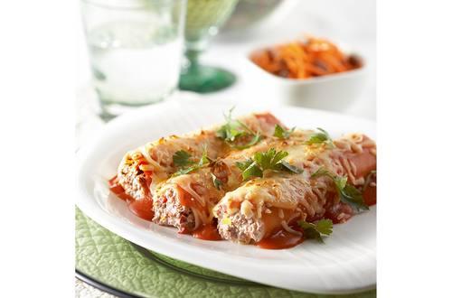 Cannelloni farci à la viande hachée, poivron et fromage ricotta