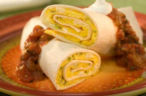 Tortilla Omelet Roll-Up