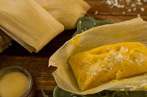 Tamales de Coco y Piña