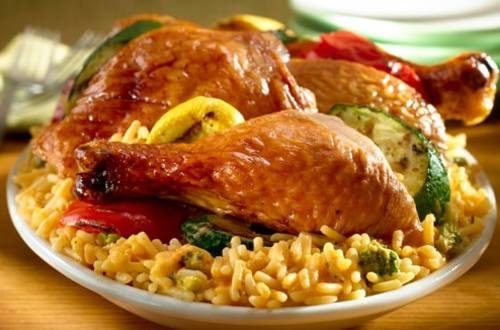 Rotisserie Chicken & Veggies Over Rice