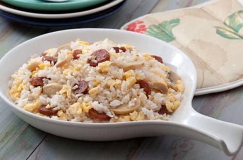 Chorizo Rice with Mushroom and Egg Recipe