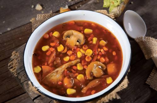 sopa de hongos con elote