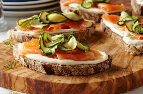 Smoked Salmon Sandwiches