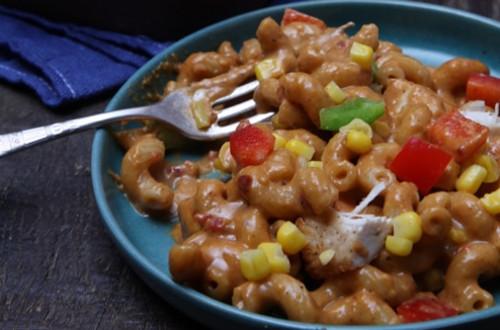 Cheesy BBQ Chicken Macaroni