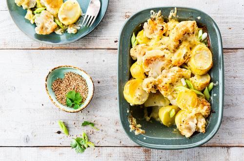 Knorr - Blumenkohl Gratin mit Sesamkruste