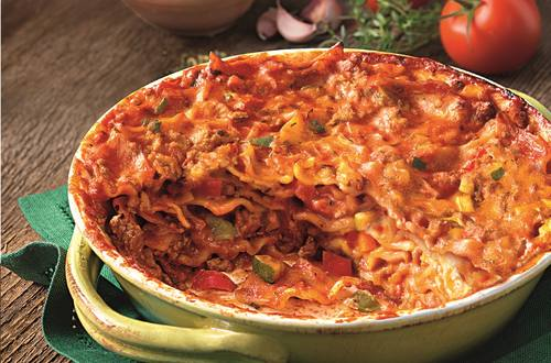 Lekker veel groenten met de Italiaanse Lasagnette van Knorr
