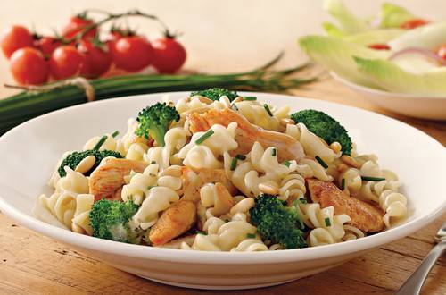 Sour Cream Pasta Recipe with Chicken & Broccoli