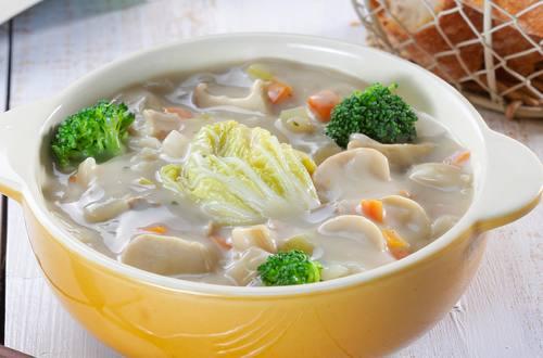 奶油蕈菇燉野菜