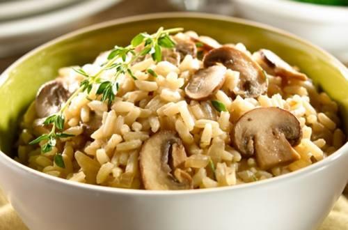 Savory Mushroom Rice Pilaf
