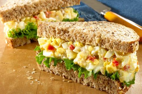 Tangy Egg Salad Sandwich with Red Bell Pepper