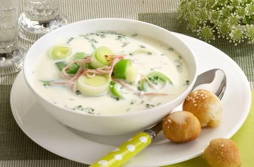 Knorr - Spargel-Lauch-Suppe mit Schinken