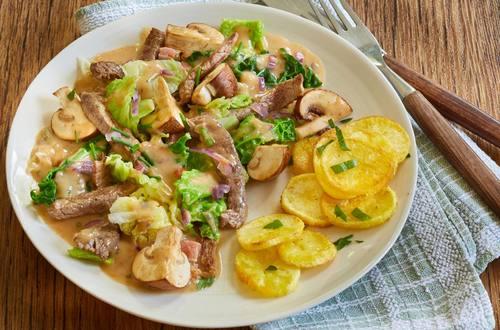 Knorr - Wirsing-Pfanne mit Rindfleischstreifen