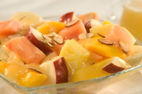 Summer Fruit with Honey-Velvet Sauce