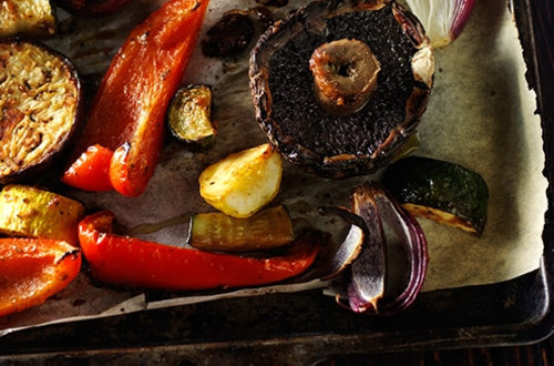 Grilled Garlic & Herb Vegetables