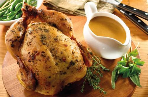 Gebraden kip met kruiden