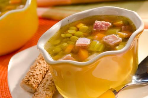 Sopa de chícharos facilísima